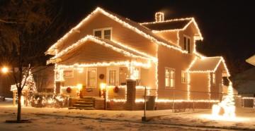 Световые украшения дома