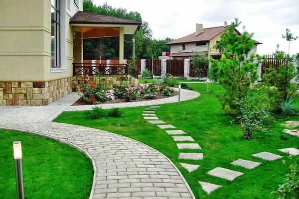 Тратуарная плитка для сада