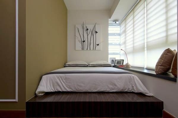 Кровать на подиуме для спальни