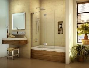 Недостатки жёстких штор для ванной