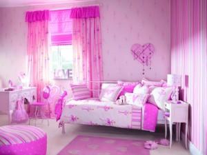 Цветовая гамма в комнате девочки