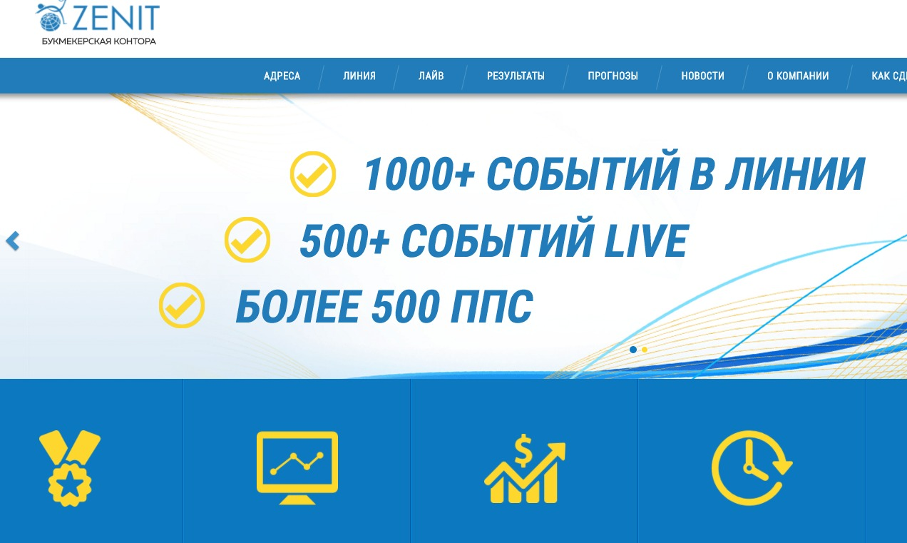 Зенит зеркало сайта букмекера — доступ к Zenit