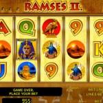 Размер ставок и количество линий в игровом автомате Ramses II