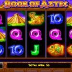Параметры игрового процесса в игре Book of Aztec из казино онлайн